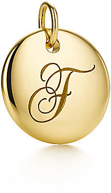 """Tiffany & Co. Notes®:Letter """"F"""" Disc Charm"""