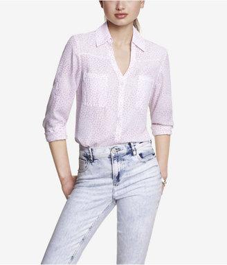 Express Confetti Dot Convertible Sleeve Portofino Shirt