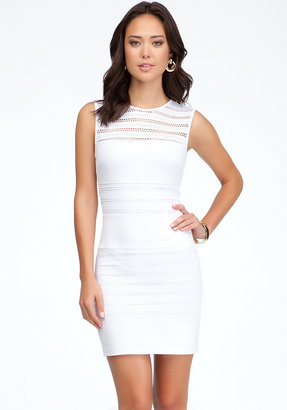 Bebe Pointelle Jersey Fitted Dress