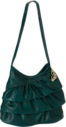 'Ruffled Up' Washed Faux Leather Bag