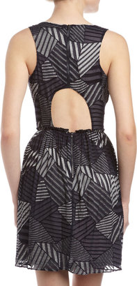 Yigal Azrouel Cut25 by Patchwork Chiffon Dress