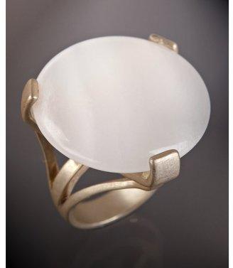 Danielle Stevens rose quartz round stone split shank ring