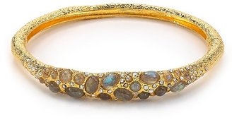 Alexis Bittar Jardin De Papillon Small Labradorite Caviar Pave Hinge Bracelet
