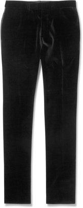 Lanvin Slim-Fit Velvet Tuxedo Trousers