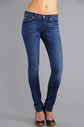 7 For All Mankind Quilted Roxanne Stretch Skinny Jeans in Hawaii