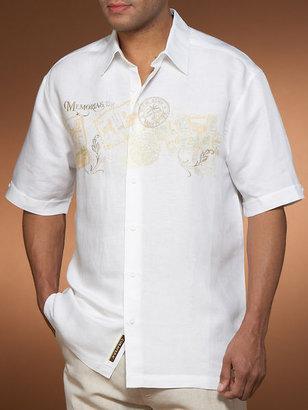 Cubavera Miami Beach Embroidery Shirt - Big & Tall