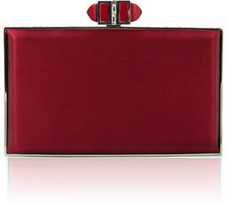 Judith Leiber Couture Satin Coffered Rectangle Clutch Bag, Crimson $2,195 thestylecure.com