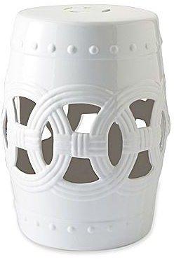 JCPenney White Ceramic Garden Stool