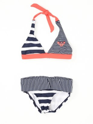 Roxy Girls 7-14 Clan Shore Halter Bikini Set With Cups