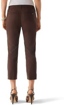 White House Black Market Perfect Form Espresso Crop Pant