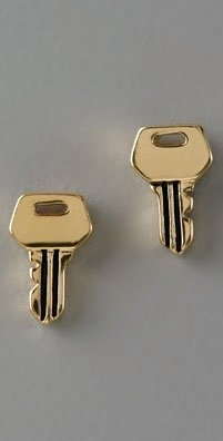 Juicy Couture Key Studs