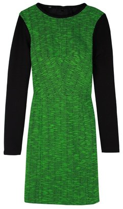 Tibi Tweed Knit Long Sleeve Dress
