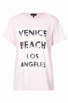 Topshop Tall venice beach burnout tee