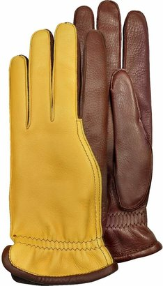 Pineider Men's Two-Tone Deerskin Leather Gloves w/ Cashmere Lining