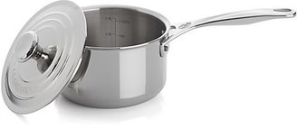 Crate & Barrel Le Creuset ® Signature 2 qt. Stainless Steel Saucepan with Lid