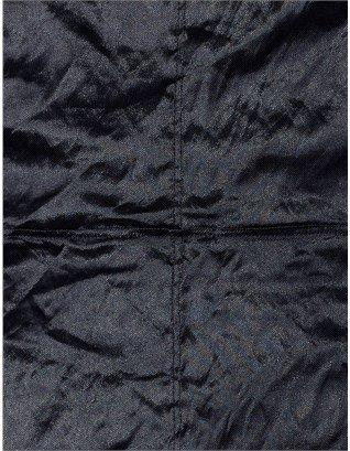 Carven Navy Metallic Taffeta Dress