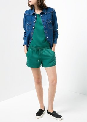 MANGO Textured Sporty Shorts