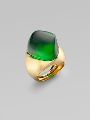 Kenneth Jay Lane Dome Ring/Green