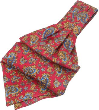 Forzieri Paisley Print Twill Silk Ascot