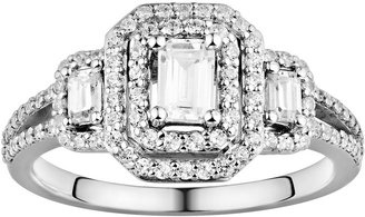 Vera Wang Simply Vera Diamond Halo Engagement Ring in 14k White Gold (1 ct. T.W.)
