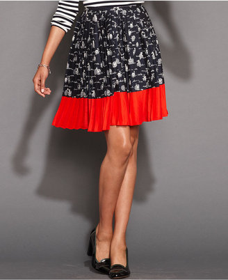 Tommy Hilfiger Skirt, Pleated Printed A-Line