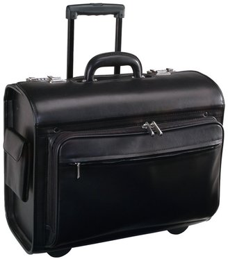 Royce Leather Wheeled Laptop Briefcase
