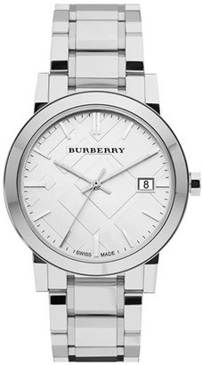 Burberry Large Check Stamped Bracelet Watch, 38Mm $495 thestylecure.com