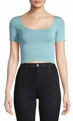 Topshop Short Sleeve Cropped Top