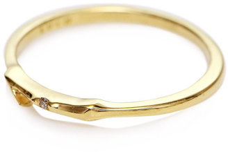 Lulu Frost Code 18ct gold and diamond #1 ring