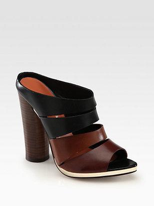Rebecca Minkoff Rae Bicolor Leather Slides