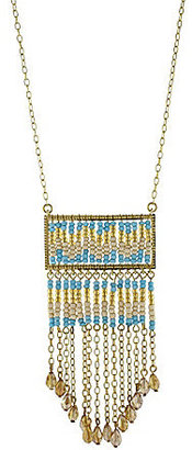 Jessica Simpson Seed Bead Pendant Necklace
