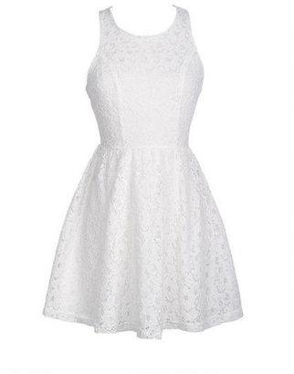Delia's Lace Peek-A-Boo Dress