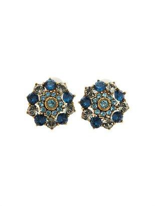Oscar de la Renta Jeweled Button Earring