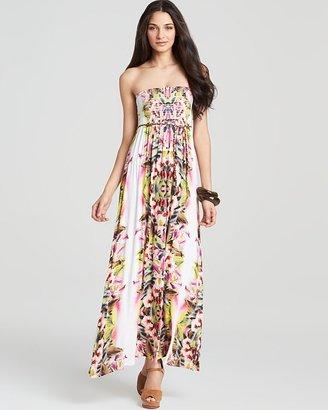 Velvet by Graham & Spencer Lily Aldridge for Velvet Maxi Dress - Oahu Tropical Print Belted