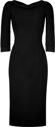 L'Wren Scott LWren Scott Black Headmistress Wool and Lace Dress