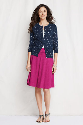 Lands' End Women's Regular Slub French Terry Foldover Skirt
