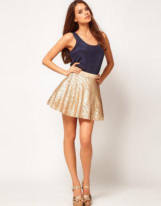 TFNC Sequin Prom Skater Skirt