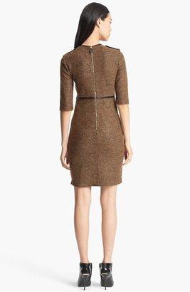 Burberry Leather Trim Dress