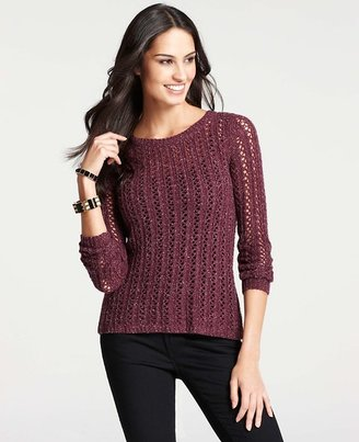 Ann Taylor A-Line Open Stitch Sweater