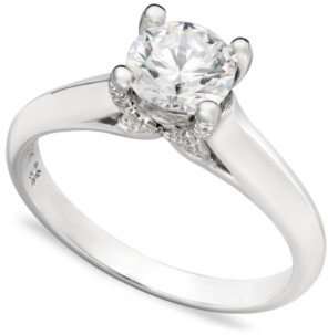X3 Certified Diamond Solitaire Engagement Ring in 18k White Gold (3/4 ct. t.w.), Created for Macy's