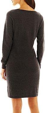 JCPenney a.n.a® Long-Sleeve Sweater Dress