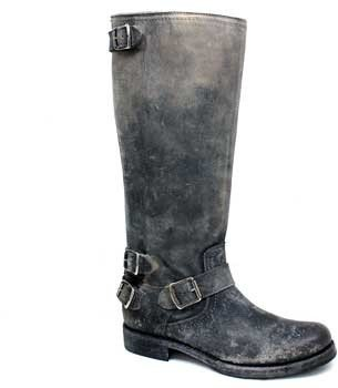 """Frye Veronica"""" Grey Distressed Leather Tall Boot"""