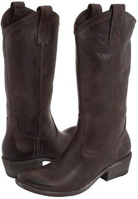 Frye Carson Pull On (Dark Brown/Vintage Leather) - Footwear