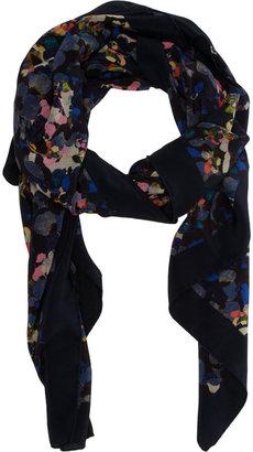 Erdem Milan Petal Silk Crepe Scarf