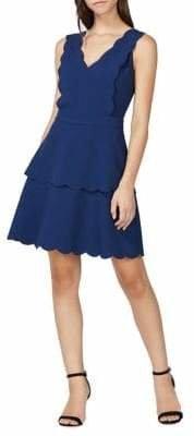Adelyn Rae Jaden Woven Scallop Dress
