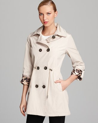 Laundry by Shelli Segal Double Breasted Trench Anorak Coat