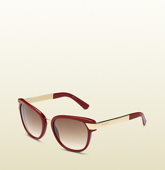 Gucci Brick Acetate Sunglasses