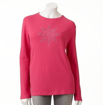Mccc embellished snowflake holiday tee