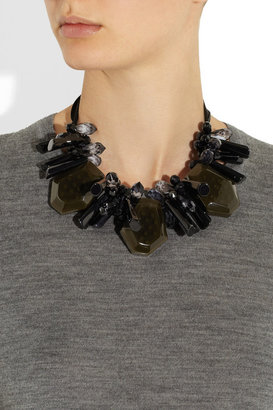 Marni Crystal, resin and brass necklace