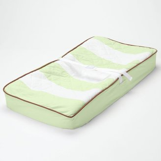 Bacati Metro Lime Changing Pad Cover